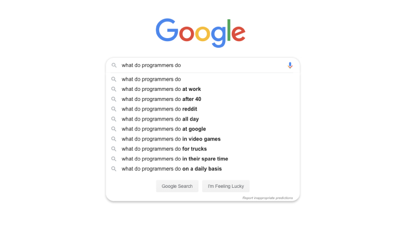 Top ten things I Google at work